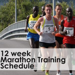 12 week marathon training schedule